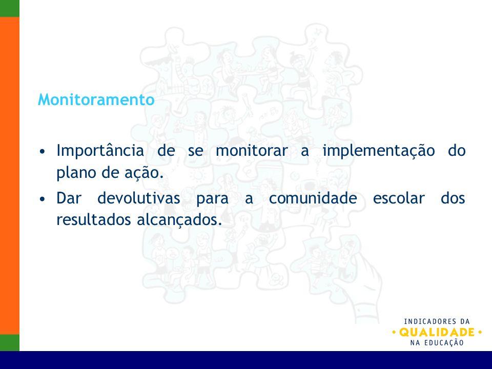 Monitoramento Importância de se monitorar a implementação do plano de ação.