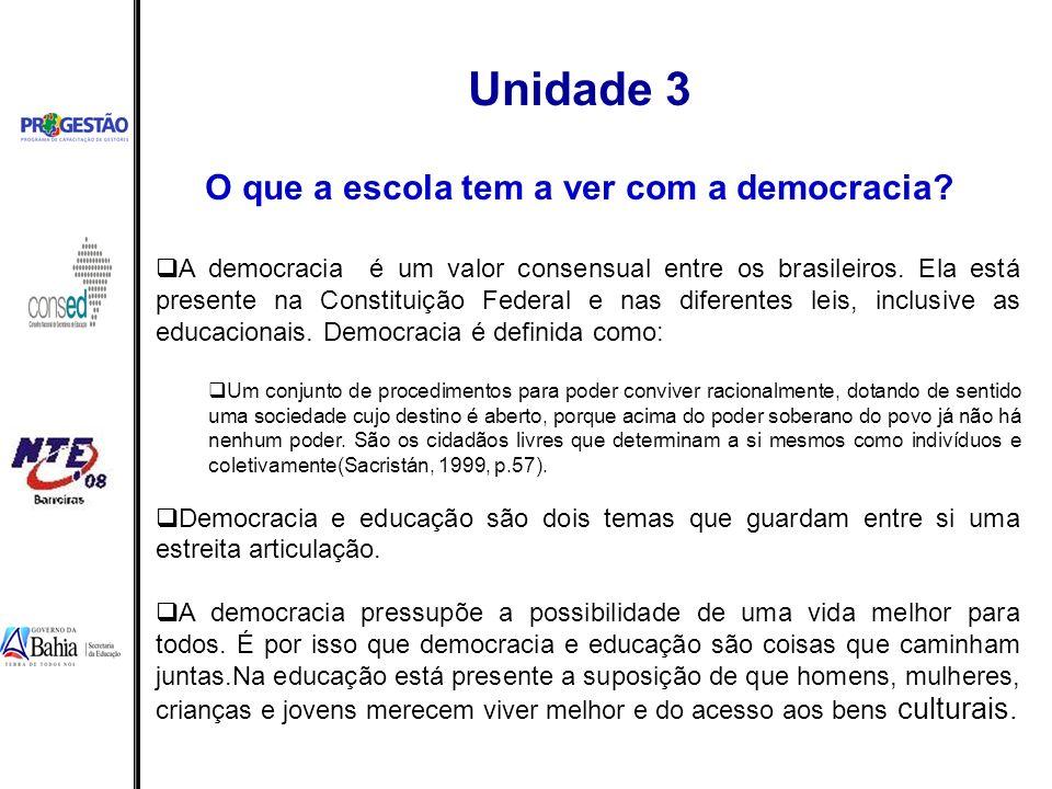 O que a escola tem a ver com a democracia