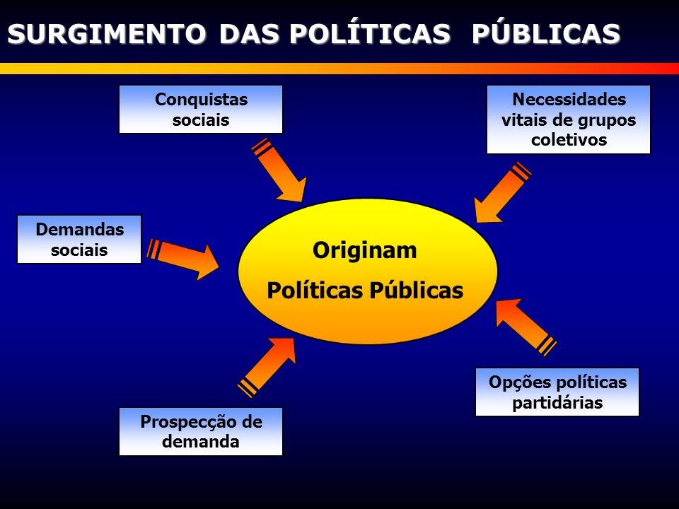 Necessidades vitais de grupos coletivos Opções políticas partidárias