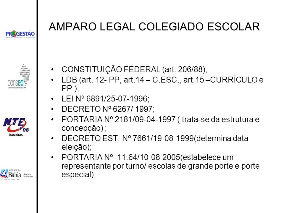AMPARO LEGAL COLEGIADO ESCOLAR
