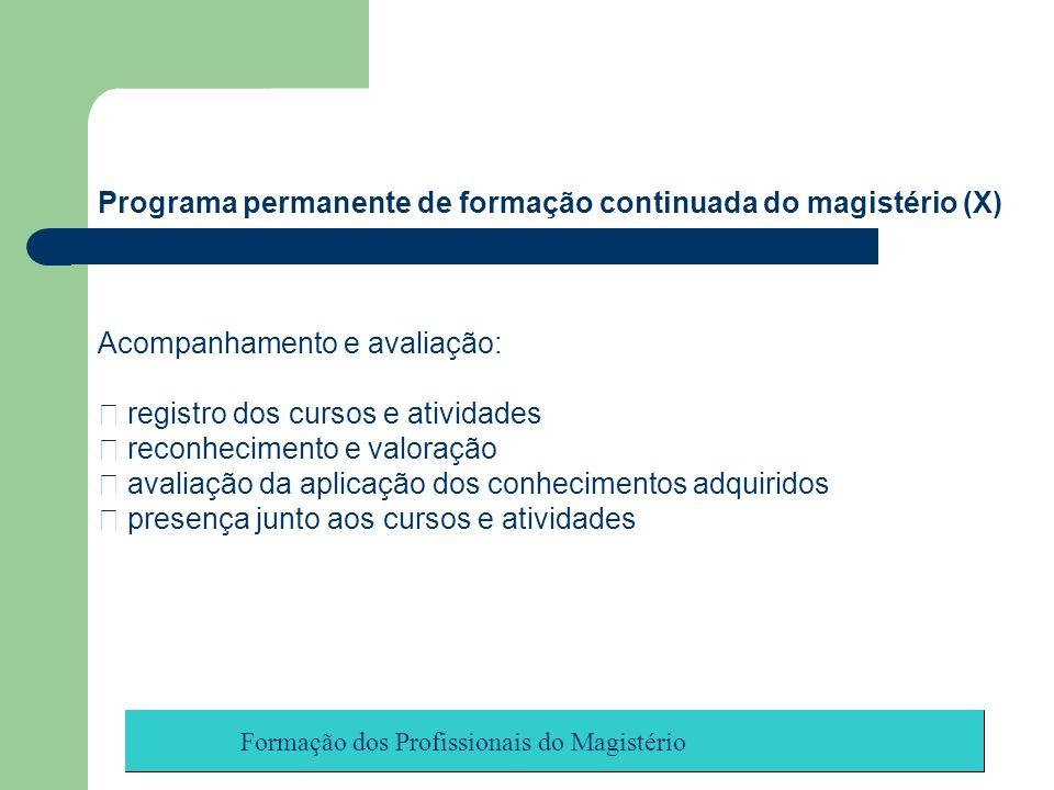 Programa permanente de formação continuada do magistério (X)