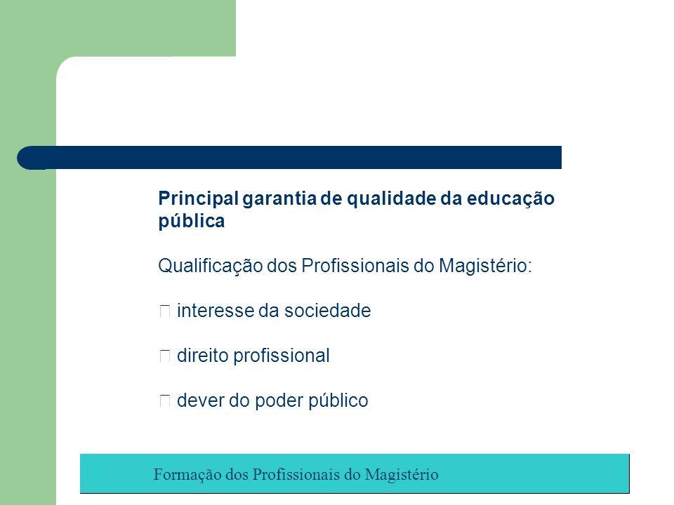 Principal garantia de qualidade da educação pública