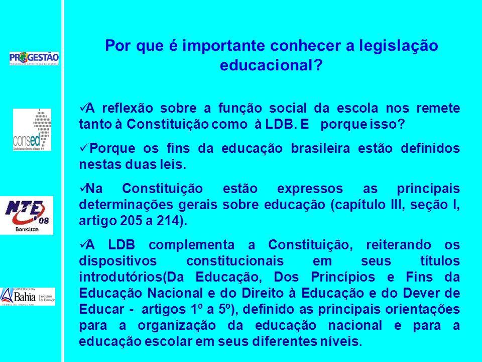 Por que é importante conhecer a legislação educacional
