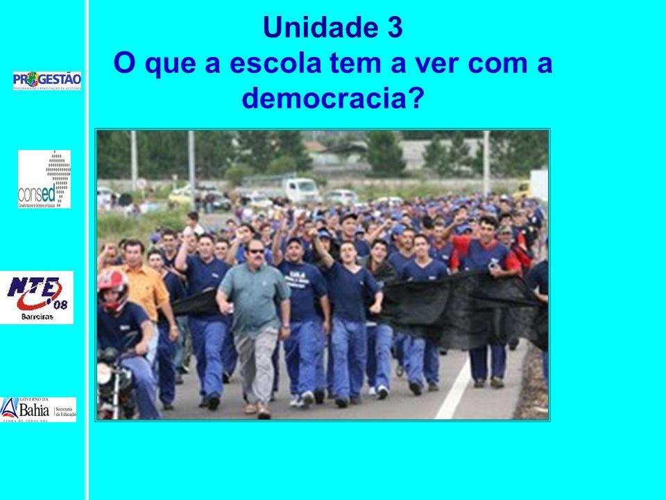 Unidade 3 O que a escola tem a ver com a democracia