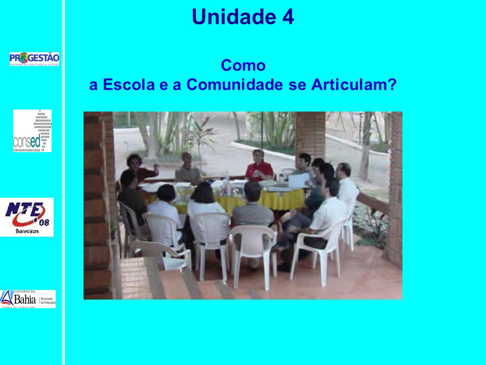 Unidade 4 Como a Escola e a Comunidade se Articulam