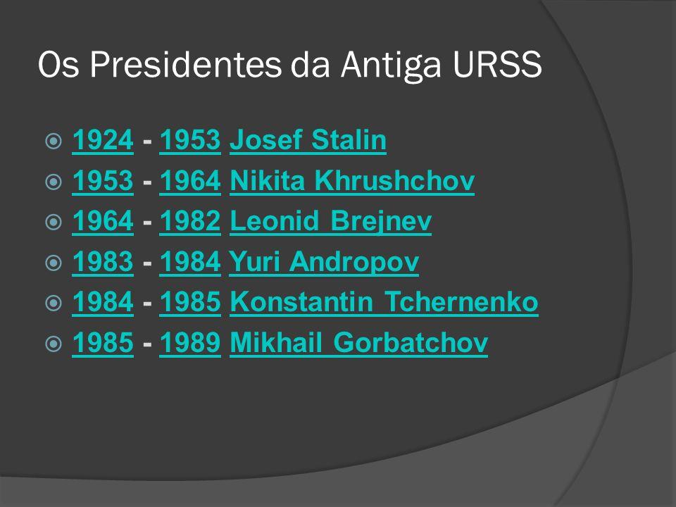 Os Presidentes da Antiga URSS