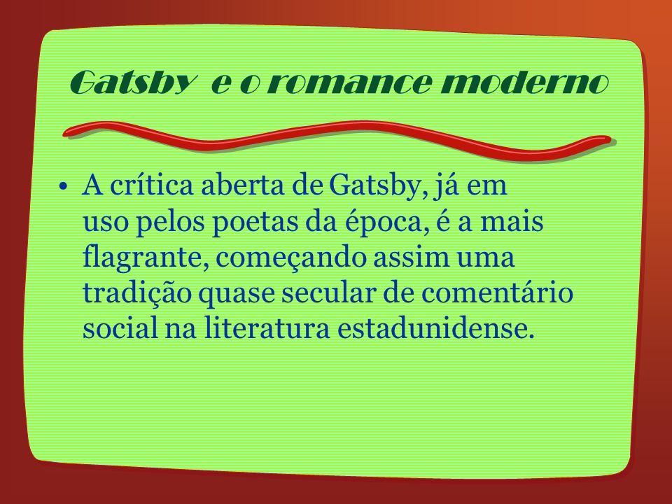 Gatsby e o romance moderno
