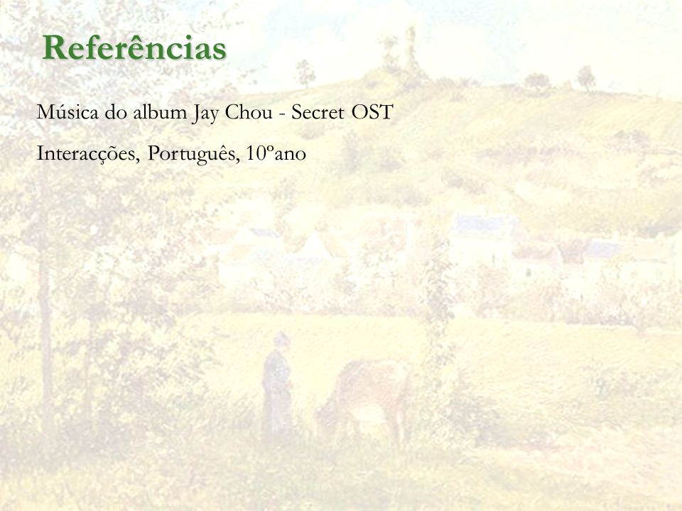 Referências Música do album Jay Chou - Secret OST