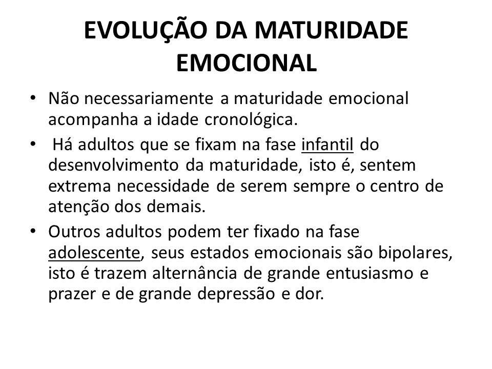 EVOLUÇÃO DA MATURIDADE EMOCIONAL