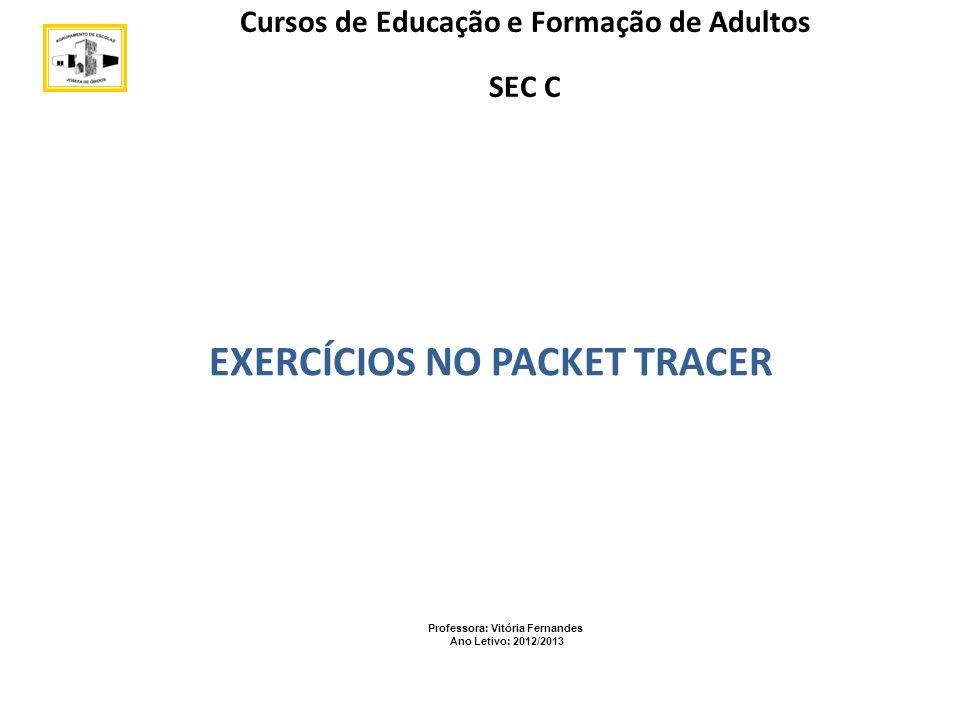 Agrupamento Vertical de Escolas de Peniche EXERCÍCIOS NO PACKET TRACER