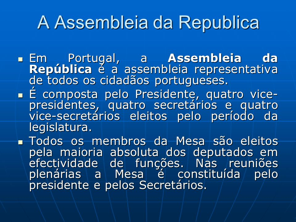 A Assembleia da Republica