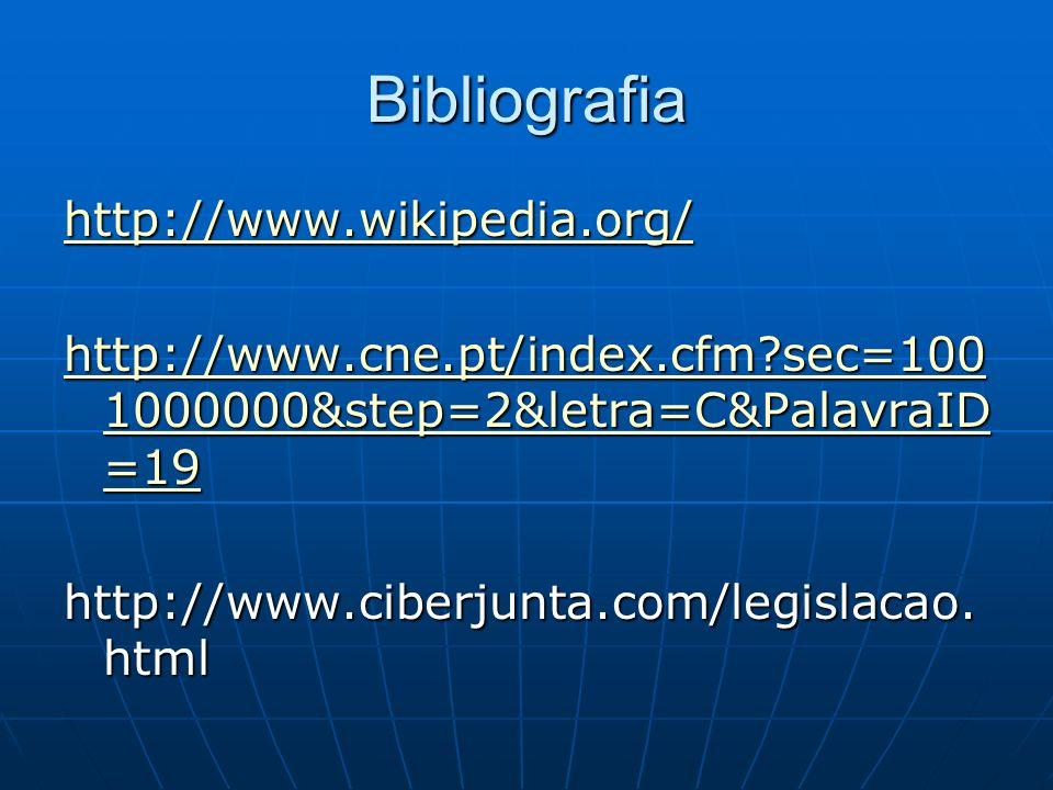 Bibliografia http://www.wikipedia.org/