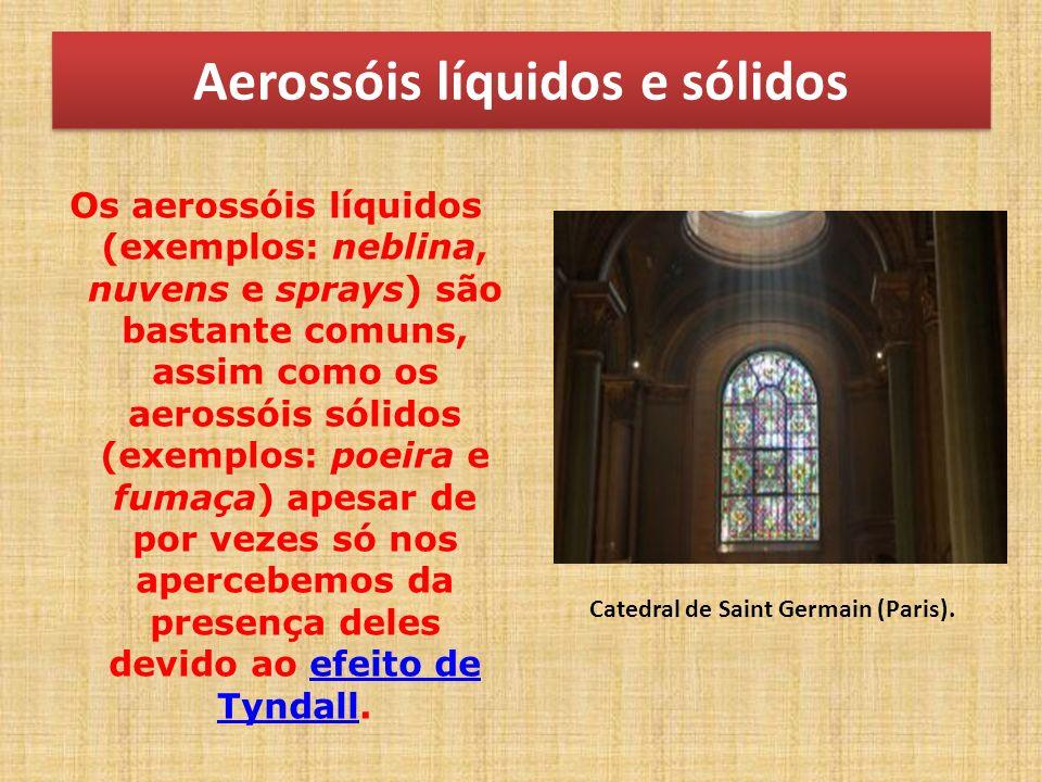 Aerossóis líquidos e sólidos