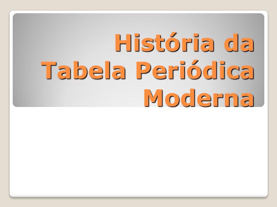 História da Tabela Periódica Moderna