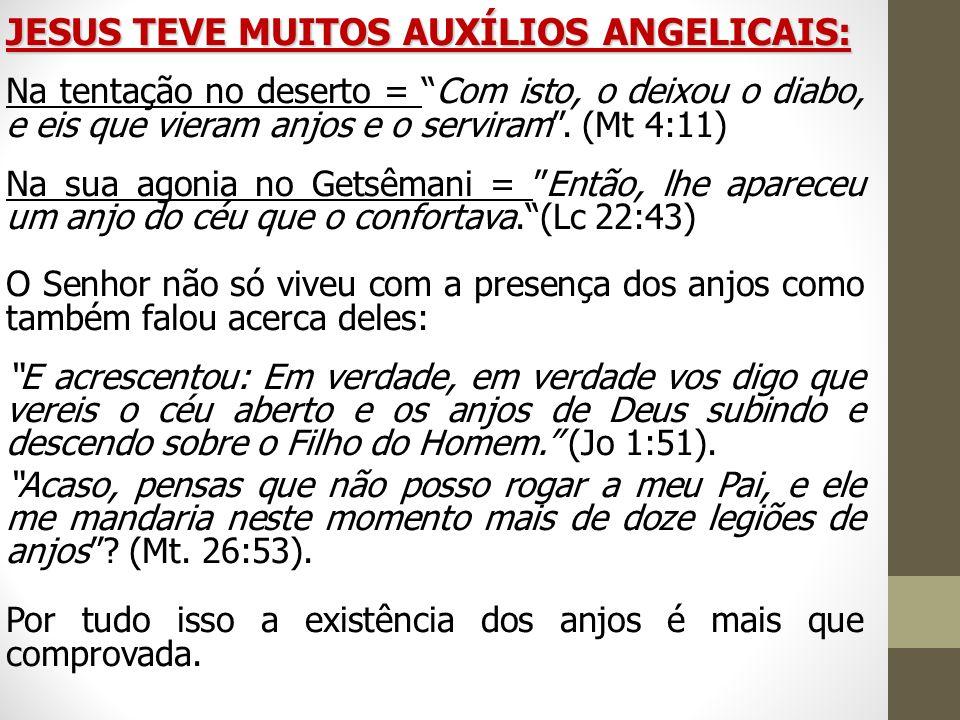 JESUS TEVE MUITOS AUXÍLIOS ANGELICAIS: