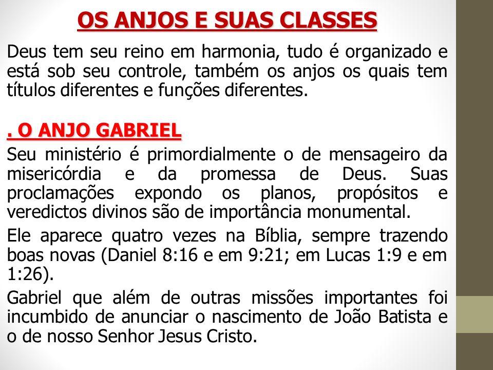 OS ANJOS E SUAS CLASSES
