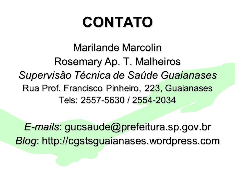 CONTATO Marilande Marcolin Rosemary Ap. T. Malheiros