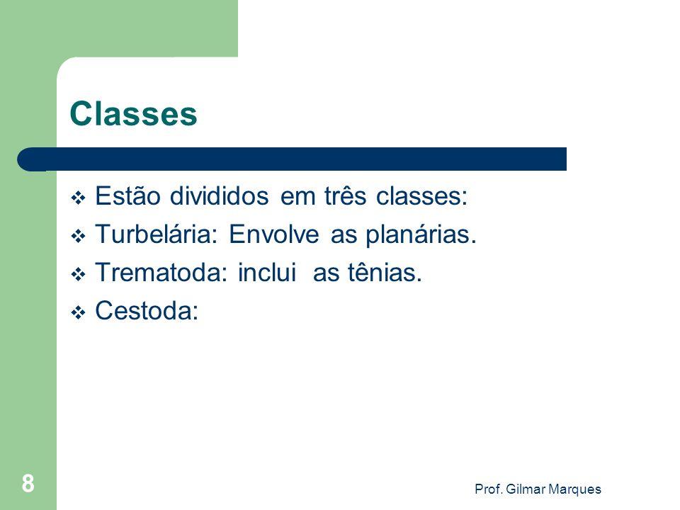 Classes Estão divididos em três classes: