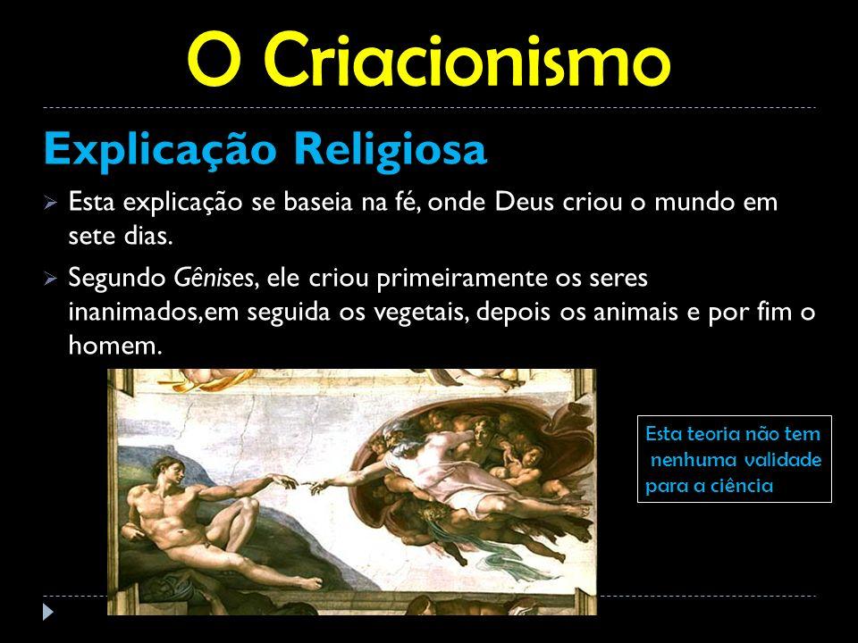 O Criacionismo Explicação Religiosa