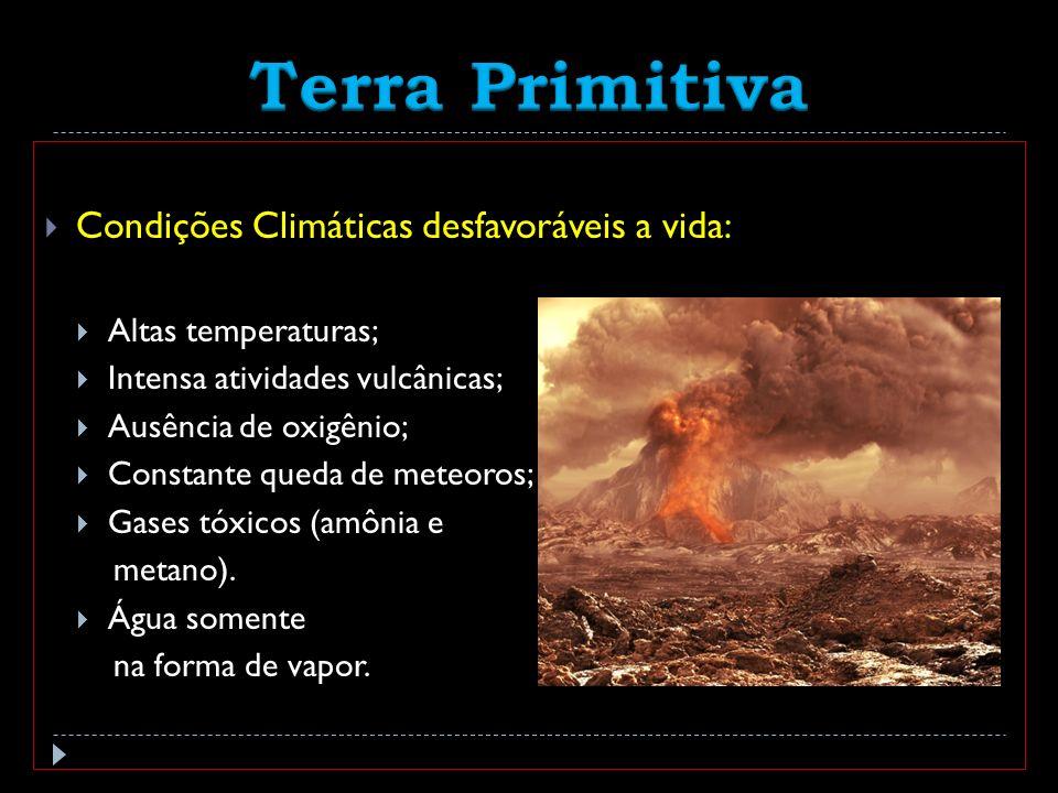 Terra Primitiva Condições Climáticas desfavoráveis a vida: