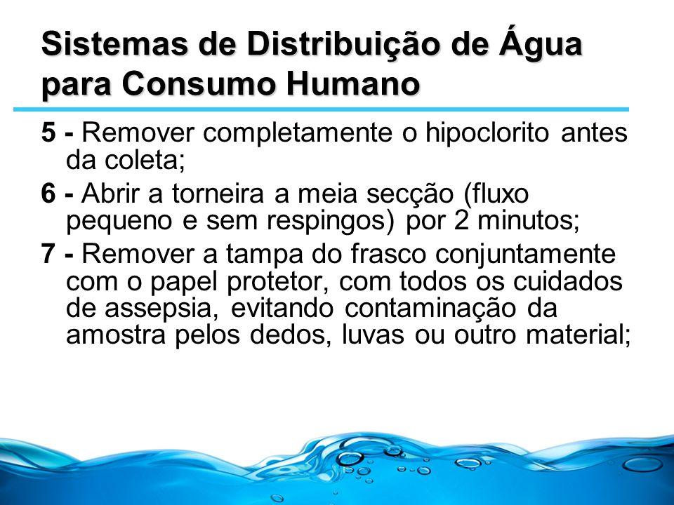 Sistemas de Distribuição de Água para Consumo Humano