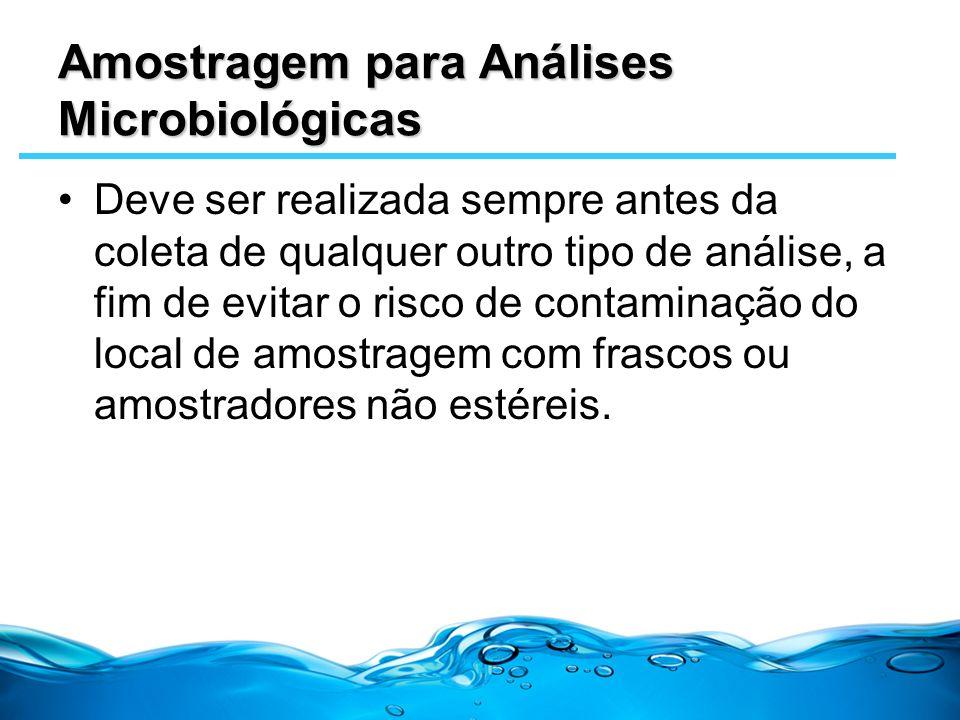 Amostragem para Análises Microbiológicas