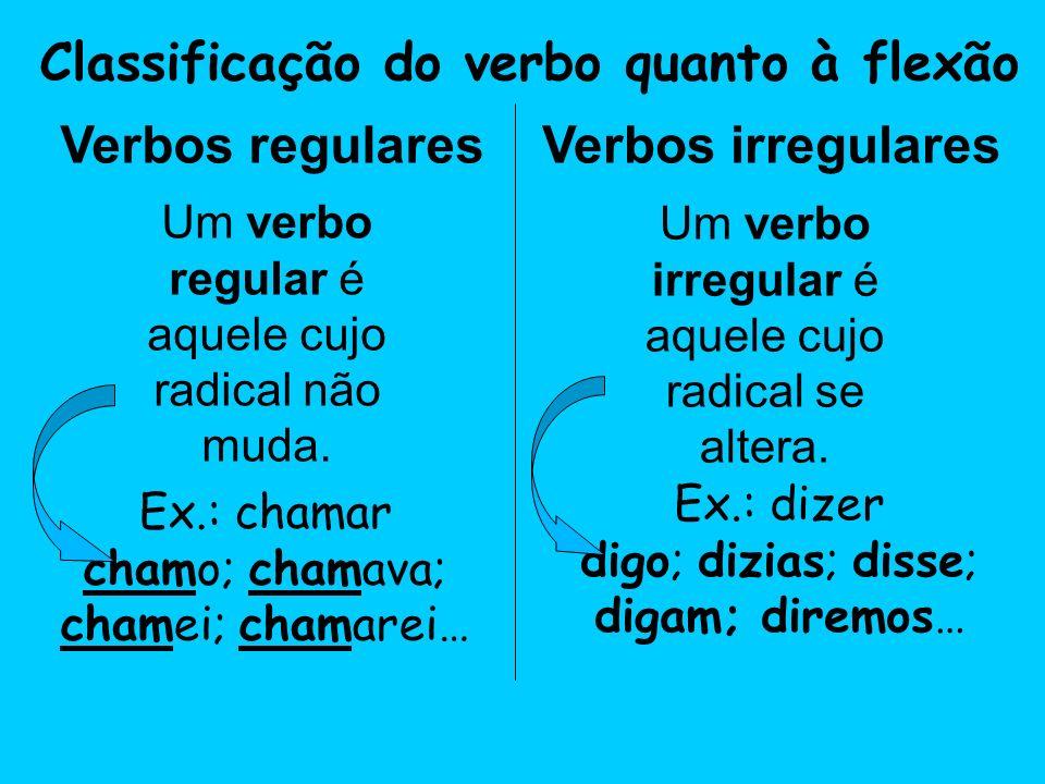 Classificação do verbo quanto à flexão