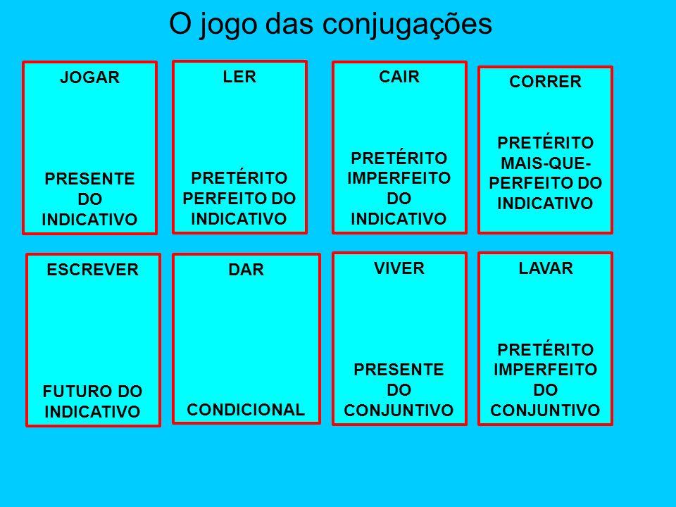 O jogo das conjugações JOGAR PRESENTE DO INDICATIVO LER
