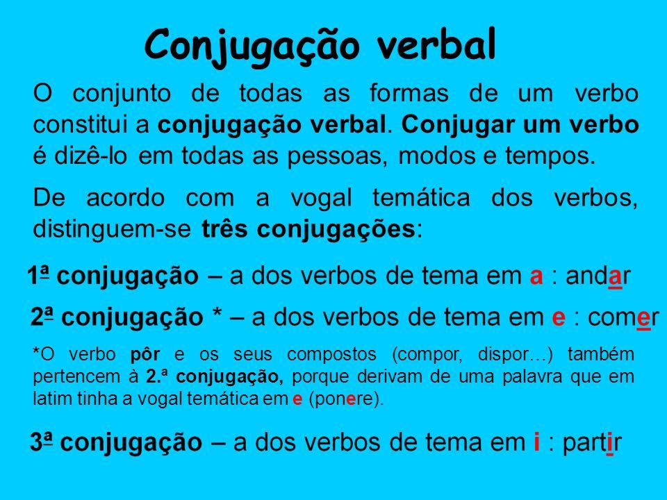 Conjugação verbal