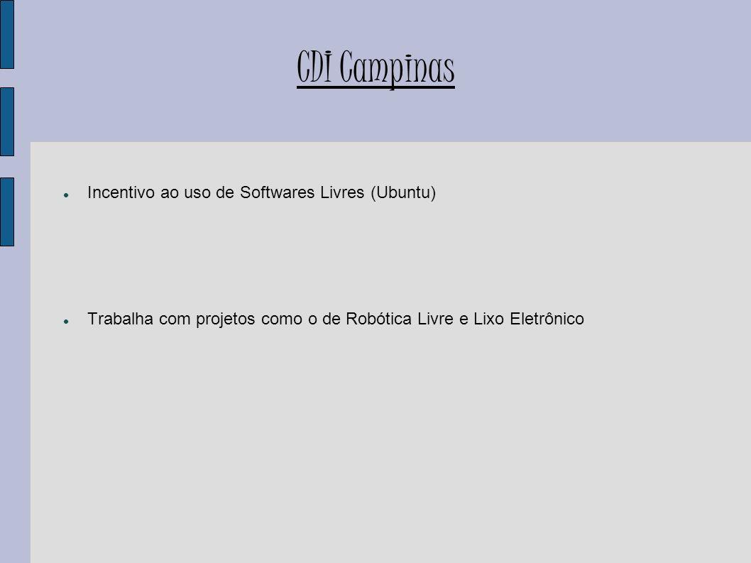 CDI Campinas Incentivo ao uso de Softwares Livres (Ubuntu)