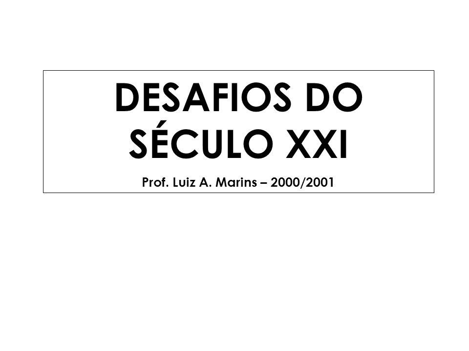 DESAFIOS DO SÉCULO XXI Prof. Luiz A. Marins – 2000/2001