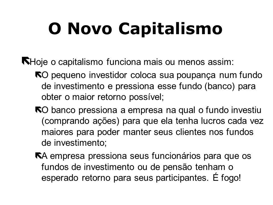 O Novo Capitalismo Hoje o capitalismo funciona mais ou menos assim: