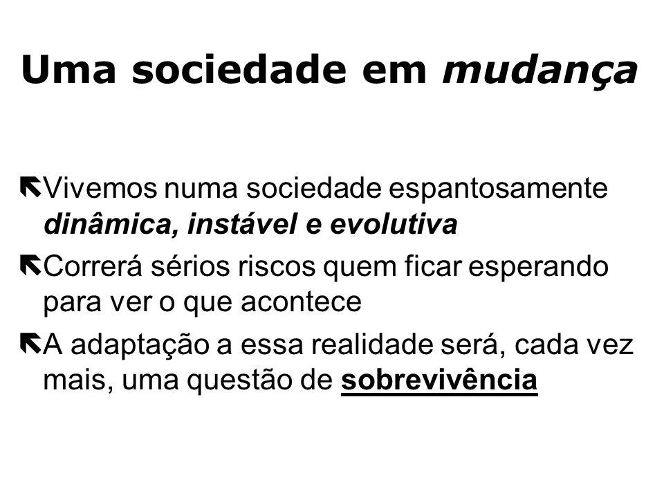 Uma sociedade em mudança