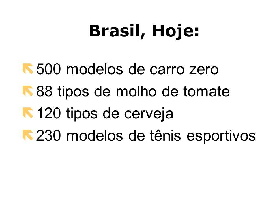 Brasil, Hoje: 500 modelos de carro zero 88 tipos de molho de tomate
