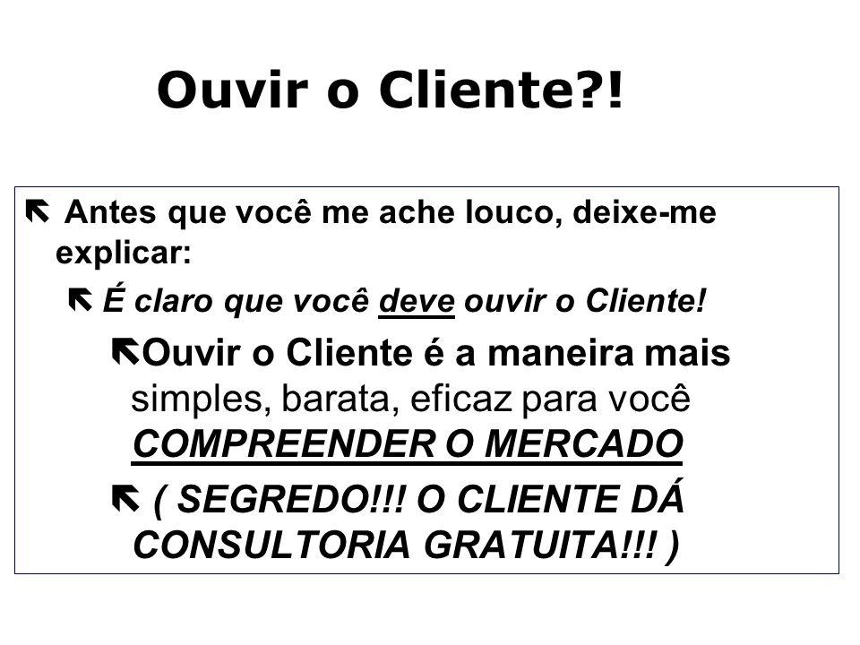 Ouvir o Cliente ! Antes que você me ache louco, deixe-me explicar: É claro que você deve ouvir o Cliente!