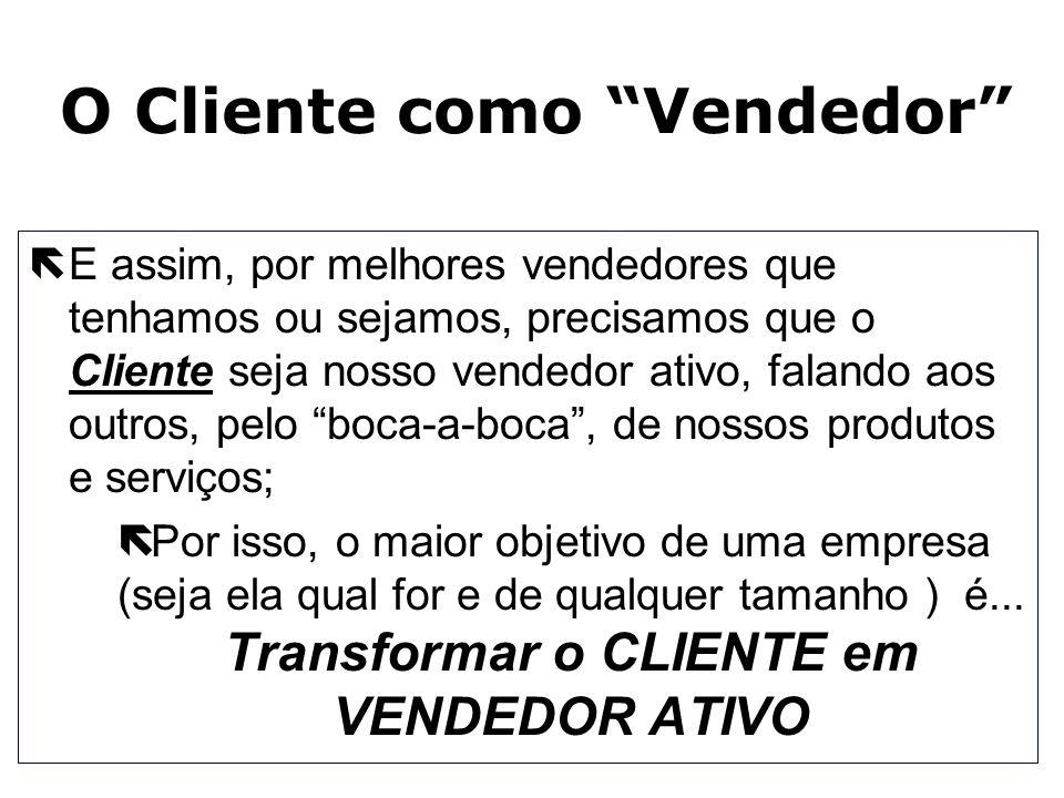 O Cliente como Vendedor