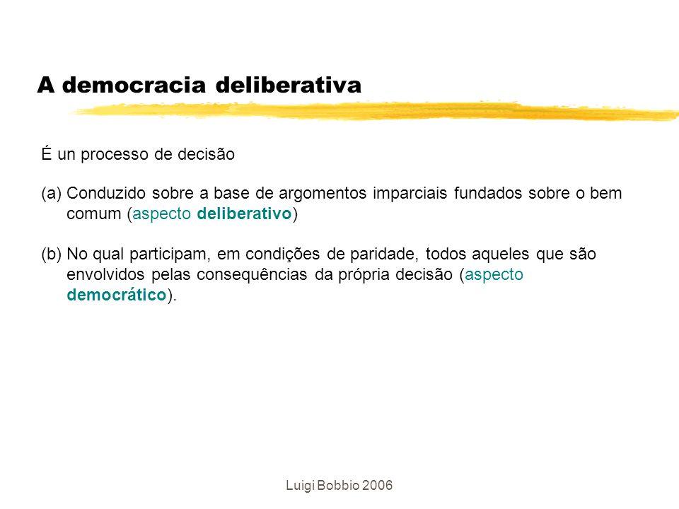 A democracia deliberativa