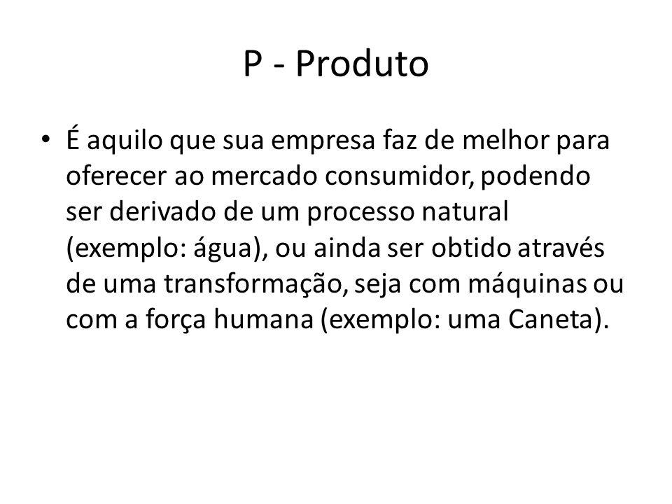 P - Produto