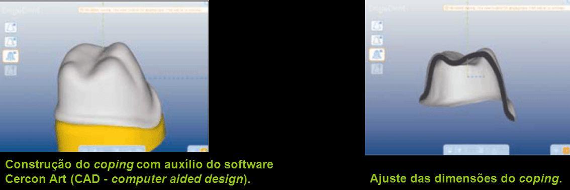 Construção do coping com auxílio do software