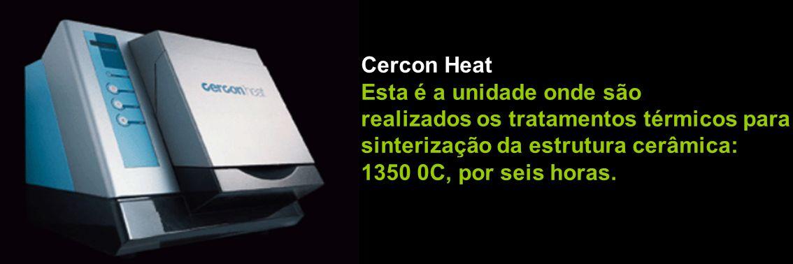 Cercon Heat Esta é a unidade onde são. realizados os tratamentos térmicos para. sinterização da estrutura cerâmica: