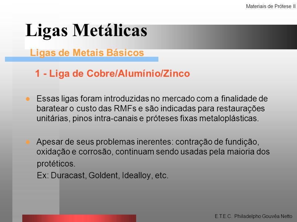 Ligas Metálicas 1 - Liga de Cobre/Alumínio/Zinco