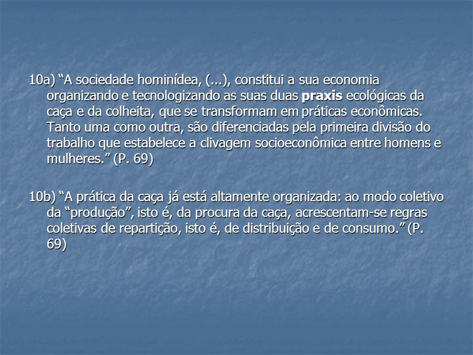 10a) A sociedade hominídea, (