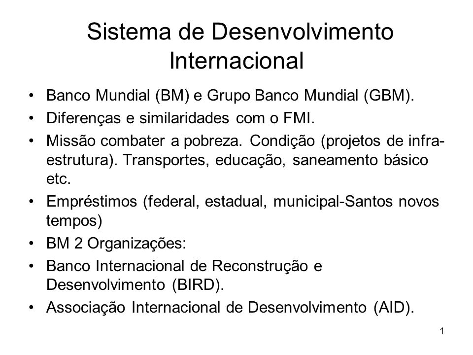 Sistema de Desenvolvimento Internacional