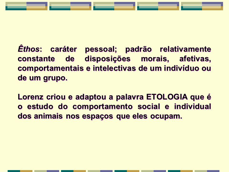 Êthos: caráter pessoal; padrão relativamente constante de disposições morais, afetivas, comportamentais e intelectivas de um indivíduo ou de um grupo.
