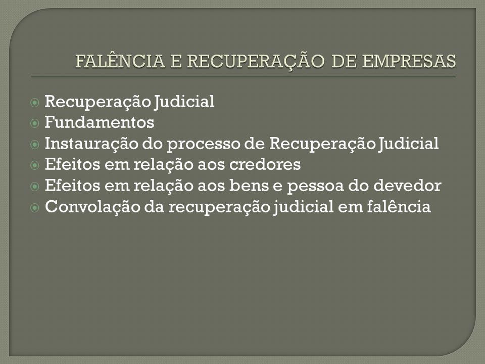 FALÊNCIA E RECUPERAÇÃO DE EMPRESAS