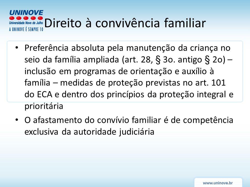 Direito à convivência familiar