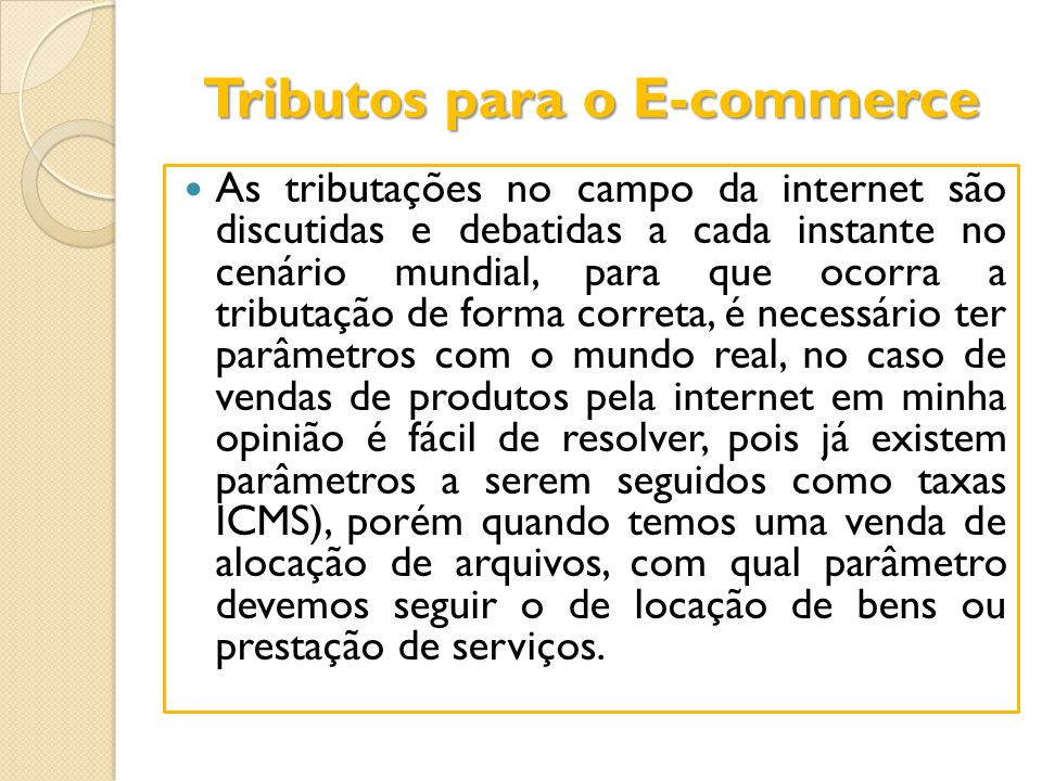 Tributos para o E-commerce
