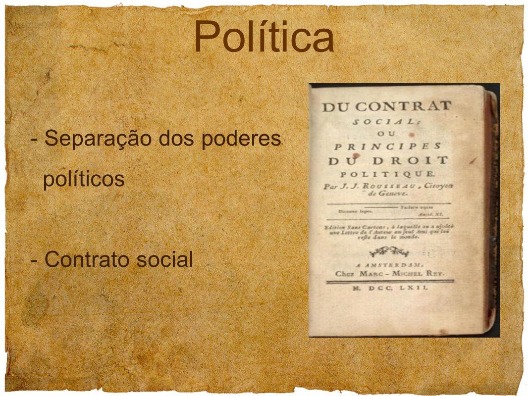 - Separação dos poderes políticos - Contrato social