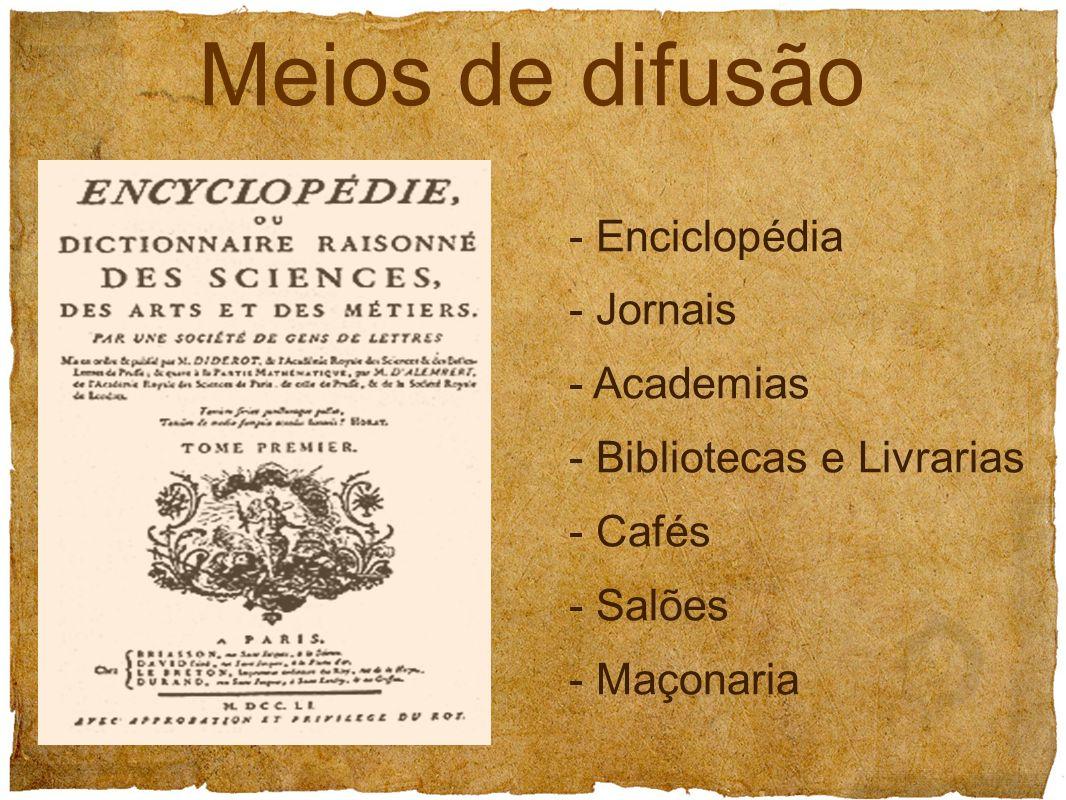 Meios de difusão - Enciclopédia - Jornais - Academias