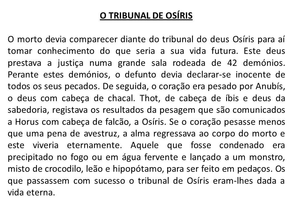 O TRIBUNAL DE OSÍRIS